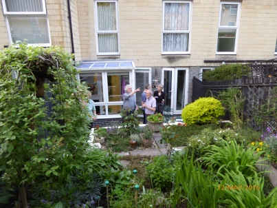 Brian and Andrew's bijou garden in Calton Walk