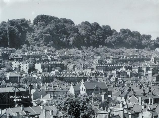 View of Beechen Cliff ca. 1937. Courtesy Bath in Time.