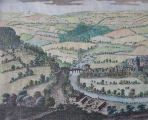 Detail from 'South East Prospect of Bath' 1734 by S & N Buck. Courtesy of Bath in Time