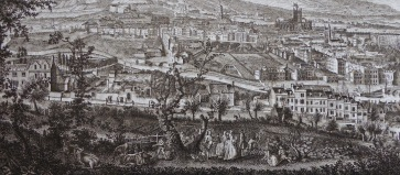 Detail from 'A South-West Prospect of the City of Bath' by T Robins 1757. Courtesy of Bath in Time.