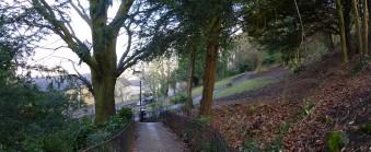 View through Magdalen Gardens onto Holloway.