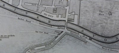 Detail of Hibbart's map of 1786. Reproduced by kind permission of Bath Record Office.