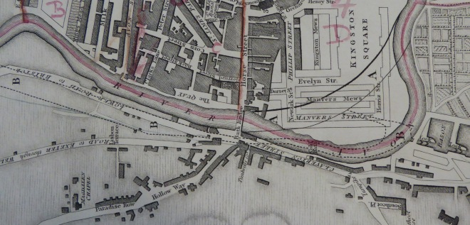 Detail from map of 1816. Reproduced by kind permission of Bath Record Office.