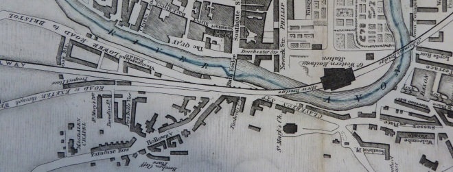 Detail from Godwin's map of 1843. Reproduced by kind permission of Bath Record Office.