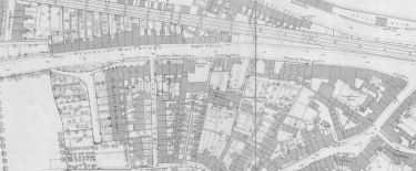 Detail of the OS map of 1885 showing the lower Wells Road area. Courtesy Bath Record Office.