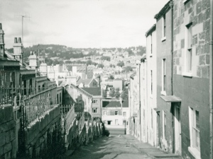 View down Paradise Street to Wells Road in mid 1960s. Courtesy of Bath in Time.