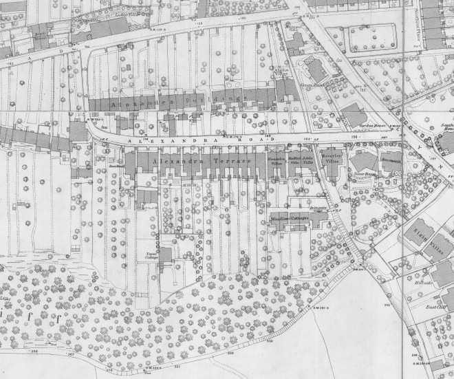 Alexandra Road in 1885. Reproduced by kind permission of Bath Record Office.